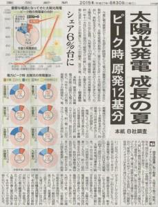 2015.08.30 東京新聞 太陽光発電6%台-650